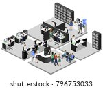 isometric 3d illustration set... | Shutterstock . vector #796753033