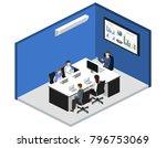 isometric 3d illustration set... | Shutterstock . vector #796753069