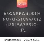 hand drawn alphabet created... | Shutterstock .eps vector #796755613