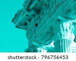 aqua colored apollo ancient... | Shutterstock . vector #796756453