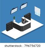 isometric 3d illustration... | Shutterstock . vector #796756720