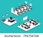 isometric 3d illustration set... | Shutterstock . vector #796756768