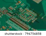 electronic circuit board close... | Shutterstock . vector #796756858