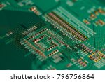 electronic circuit board close... | Shutterstock . vector #796756864
