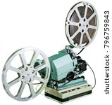 a movie projector is an opto... | Shutterstock . vector #796759843