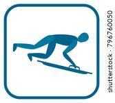 skeleton emblem. two color icon ... | Shutterstock .eps vector #796760050