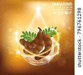 tamarind collagen vitamin skin... | Shutterstock .eps vector #796761298
