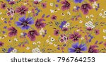 seamless floral pattern in... | Shutterstock .eps vector #796764253