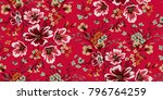 seamless floral pattern in... | Shutterstock .eps vector #796764259