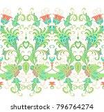 ornamental floral border on... | Shutterstock .eps vector #796764274