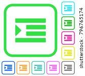 increase text indentation vivid ... | Shutterstock .eps vector #796765174