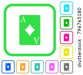 ace of diamonds card vivid... | Shutterstock .eps vector #796765180