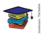graduation book logo | Shutterstock .eps vector #796766044