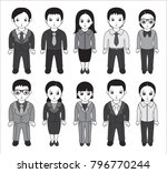 chibi style illustrations of... | Shutterstock . vector #796770244
