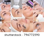 collage of various cosmetic... | Shutterstock . vector #796772590