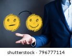 business man select happy on... | Shutterstock . vector #796777114