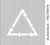 plastic recycling symbol pvc 3  ... | Shutterstock .eps vector #796778476