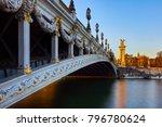 pont alexandre iii bridge and... | Shutterstock . vector #796780624