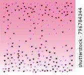 valentines day vector confetti... | Shutterstock .eps vector #796784344