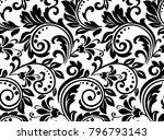 floral pattern. wallpaper... | Shutterstock .eps vector #796793143