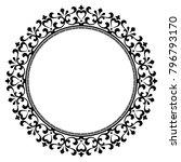 decorative line art frames for... | Shutterstock .eps vector #796793170