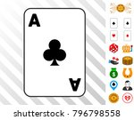 clubs ace playing card...