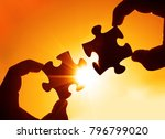 two hands of businessman to... | Shutterstock . vector #796799020