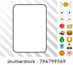 palying card template icon with ...