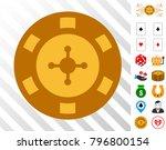 casino chip icon with bonus...