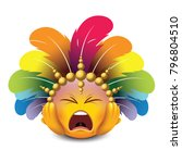 cute panic emoticon isolated on ... | Shutterstock .eps vector #796804510