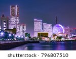 yokohama's building group at... | Shutterstock . vector #796807510