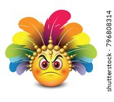 cute angry emoticon isolated on ... | Shutterstock .eps vector #796808314