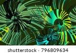 pinstripe sea shell. curl... | Shutterstock .eps vector #796809634