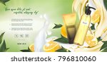 essential cream ads  shampoo...   Shutterstock .eps vector #796810060