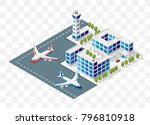 isometric high quality city... | Shutterstock .eps vector #796810918