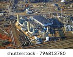 Small photo of LINDEN, NJ -15 JAN 2018- Aerial view of the Linden Generation Station (Co-Gen), a power plant next to the New Jersey Turnpike.