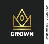 crown royal king vector logo... | Shutterstock .eps vector #796814524
