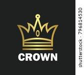 crown royal king vector logo... | Shutterstock .eps vector #796814530
