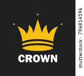crown royal king vector logo...   Shutterstock .eps vector #796814596