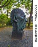 Small photo of Bonn German Europe 2017 June 10 sculpture Adenauer memorial near Palais schaumburg