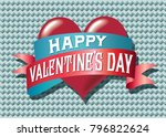 a happy valentine's day vector... | Shutterstock .eps vector #796822624