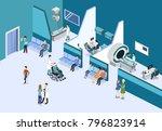 isometric 3d illustration... | Shutterstock . vector #796823914