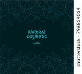 elegant floral vector border.... | Shutterstock .eps vector #796824034