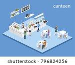isometric 3d illustration...   Shutterstock . vector #796824256