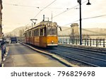 the tram at budapest  | Shutterstock . vector #796829698