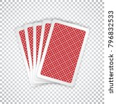 five closed playing cards  ... | Shutterstock .eps vector #796832533