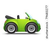 green cabriolet | Shutterstock .eps vector #79683277
