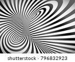 black and white optical... | Shutterstock .eps vector #796832923