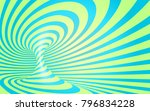blue and mint colors stripes... | Shutterstock .eps vector #796834228