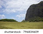 mountains and lush landscape in ... | Shutterstock . vector #796834609